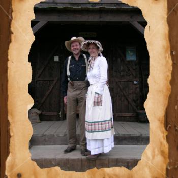 Nadine et Fred tenue d'époque 1900 - Ranch à Languidic 56