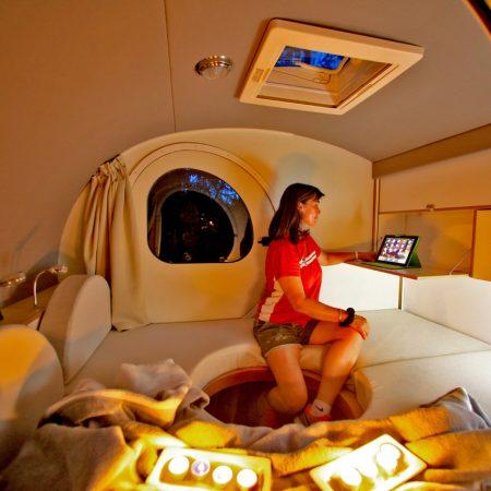Le teardrop, une caravane compacte mais avec le confort moderne en prime - Le Ranch de Calamity Jane, gîtes insolite à Languidic dans le Morbihan